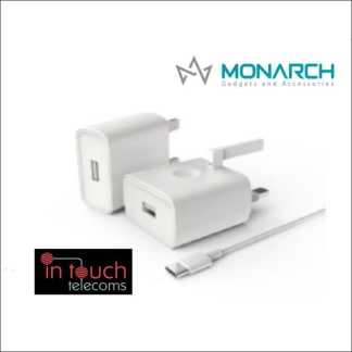 Monarch Gadgets Fast 5V 2A Type-C Home Charger with 1m Type-C Cable