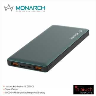 Monarch Gadgets Qualcomm 3.0 Pro Power-1 Power Bank with Triple Output 10000mAh