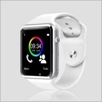 Sports Fitness Smartwatch with SIM for Apple Samsung Huawei | Silver & Black
