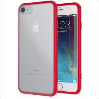 Xquisite iPhone 8/7/SE Metallic Bumper Case - Red