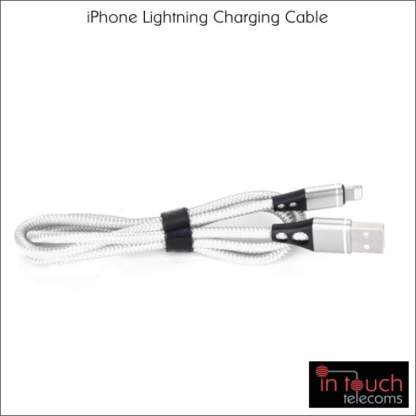 Lightning Nylon Braided Charging Cable for iPhone   1 Metre