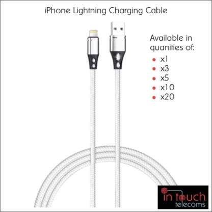2x Lightning Nylon Braided Charging Cable for iPhone | 1 Metre