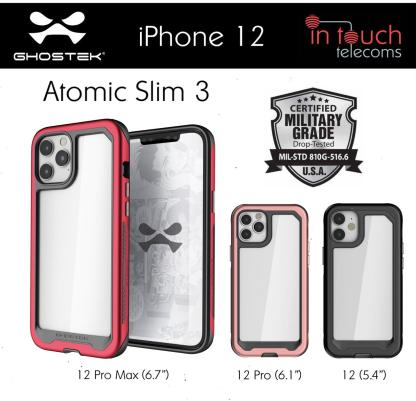 Ghostek Atomic Slim 3 for iPhone 12, 12 Pro and 12 Pro Max
