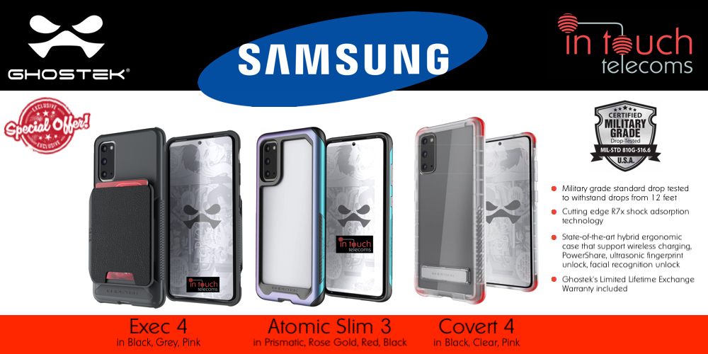 Samsung Galaxy S20, S20+ and S20 Ultra Range