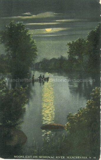 Photo Courtesy of Manchester Historic Association | Moonlight on the Merrimack