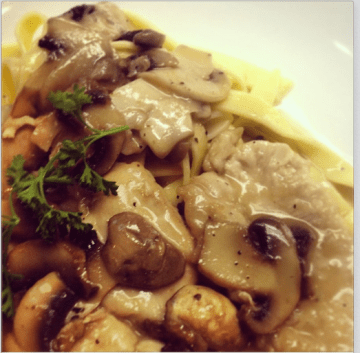 Piccola Italia | Chicken Marsala over house made fettuccine