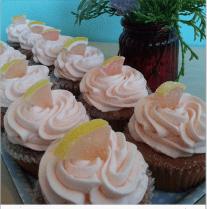 Queen City Cupcakes - pink grapefruit cupcakes
