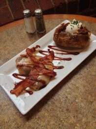 Waterworks Cafe | BBQ chicken and bacon melts with a loaded baked potato