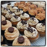 Queen City Cupcakes | Cookie Dough, chocolate salted caramel, pb cup