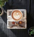 A&E Coffee and Tea   The Honey Cinnamon latte