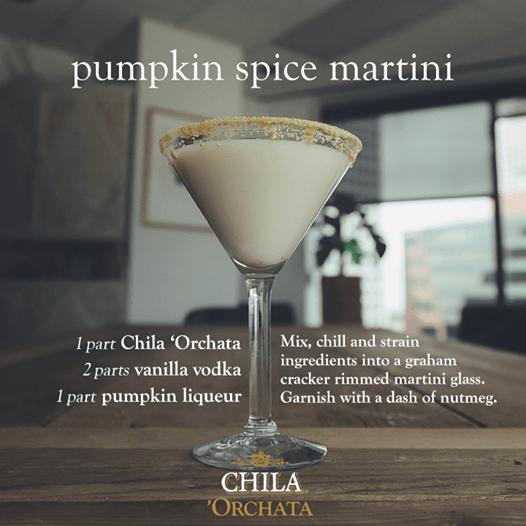 Chila Pumpkin spice Martini