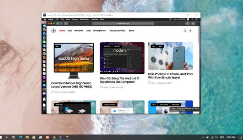 Install macOS on Windows 10 on Virtual Machine