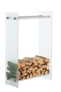 Firewood Rack Dacio Log Holder Safety Glass Wood Rack