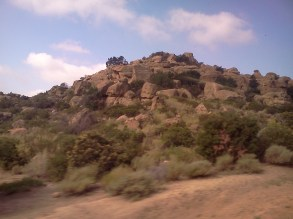 From the train: Love these rocks