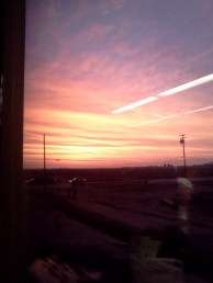Train sunsets!