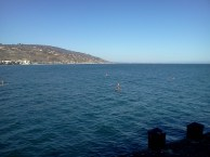 Paddleboards off Malibu Pier