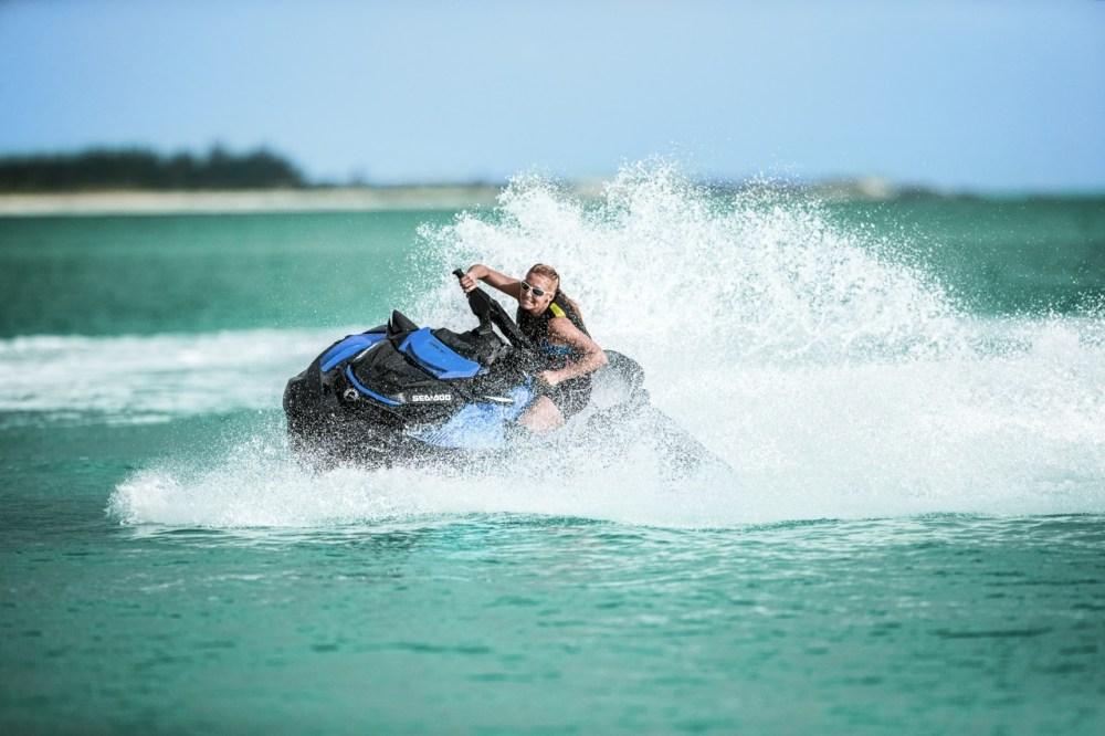 medium resolution of solo rider playing on sea doo st3 hull