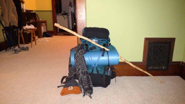 My gear, ready to go.