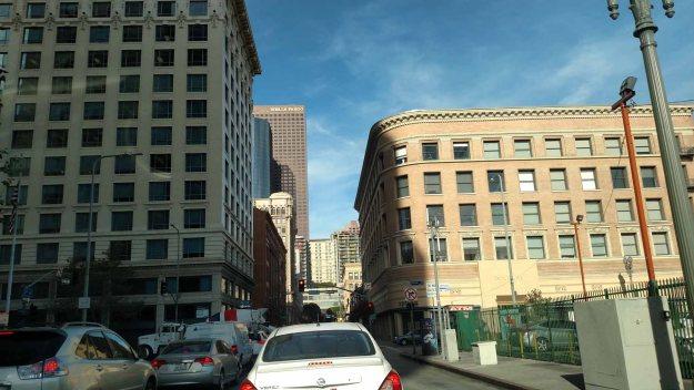 Headed downtown in LA