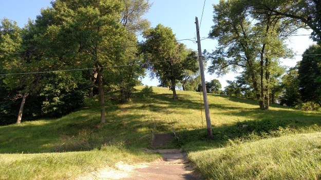 The hill at Velie Park, Moline Illinois