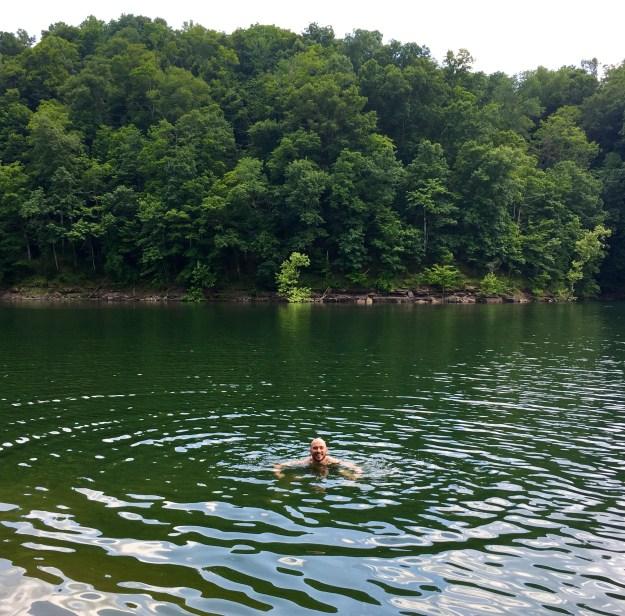 Swimming in Lake Cumberlnd