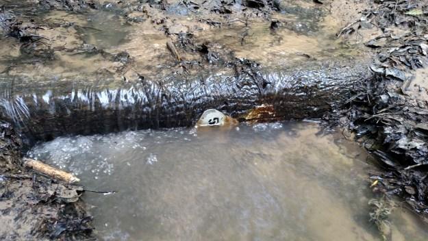 Submerged trail marker