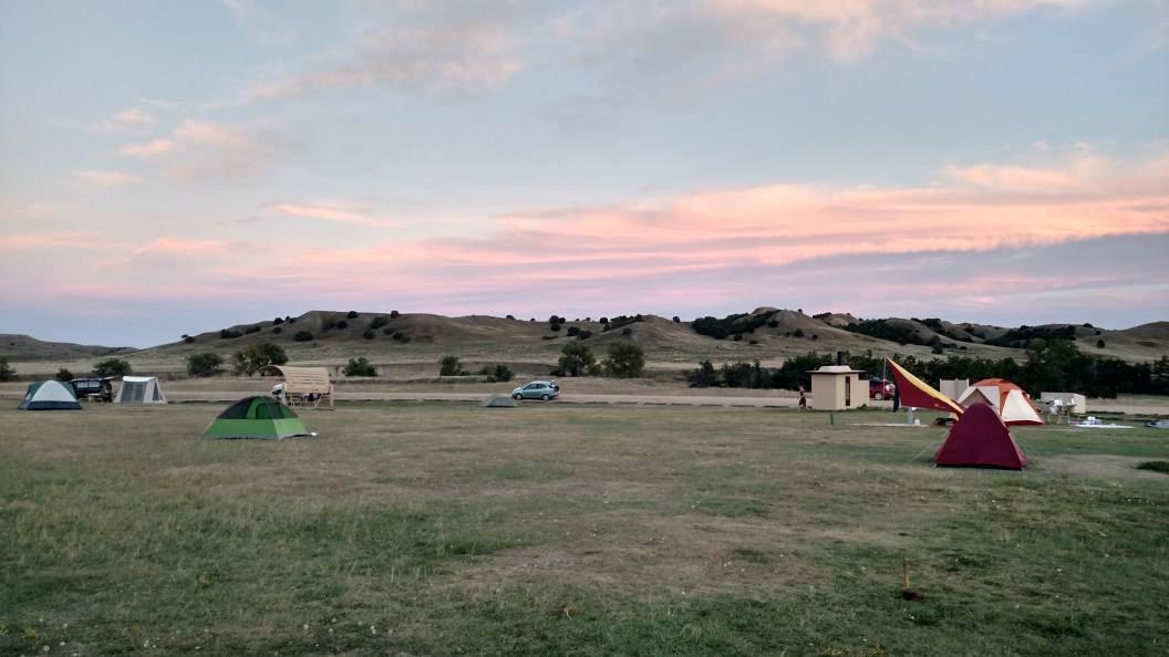 Safe Creek Campground at sunset