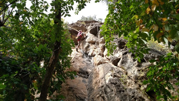 Climbing Liquid Sunshine.