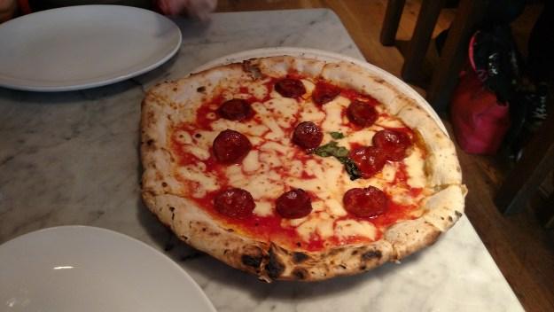 Franco Manca pizza in London