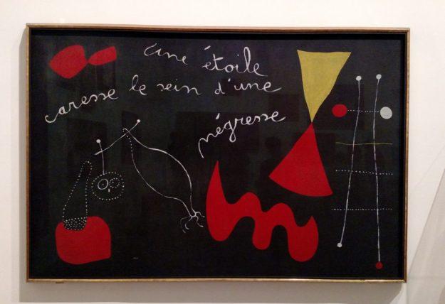 """Joan Miro's """"Une Étoile Caresse le Sein d'une Négresse."""""""