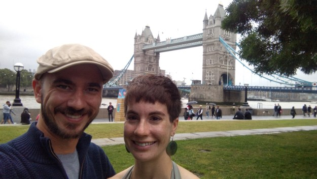 Tower Bridge Selfie while walking London