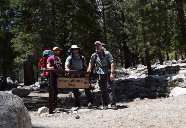 Myself, Jon, and Tim about to head up Mount Whitney Trail.