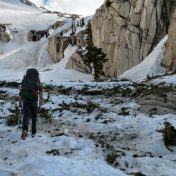 Crossing the field of avalanche debris