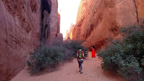 Sand Dune Trail at Arches National Park