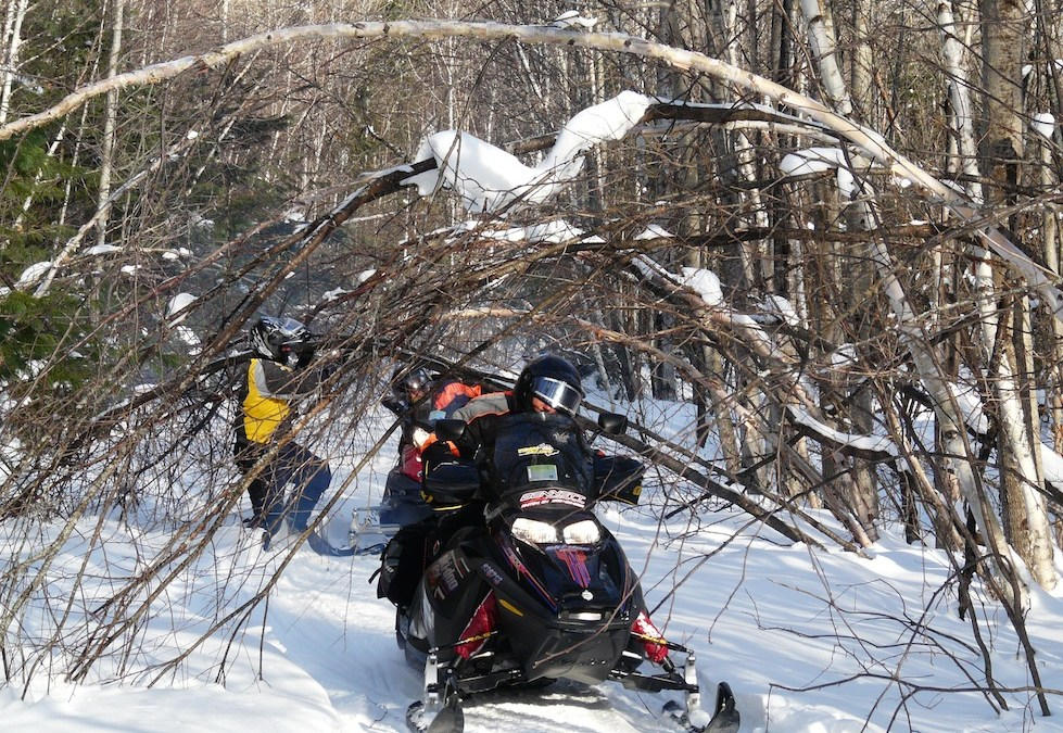 Stay on Snowmobile Trails in Bad Weather