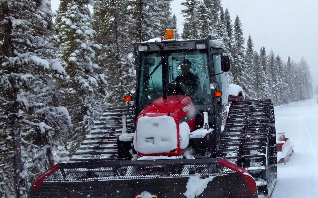 Snowmobile Groomer Ride Along How To Groom