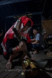 Ahka family preparing dinner for us.
