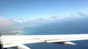 На подлете к Лондону пассажир самолета заснял НЛО