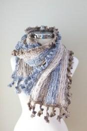 archi shawl scarf ivory grey beige