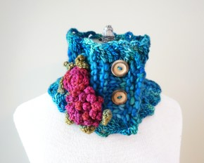 peony rose scarf teal1