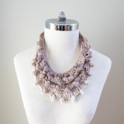 necklace scarf beige combo2