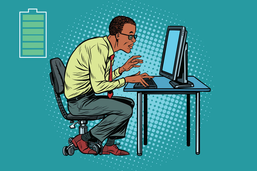 поп ап мужчина и компьютер