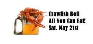 beer mug with crawfish  on white background