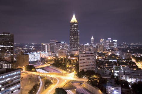Atlanta Georgia Nightime Cityscape
