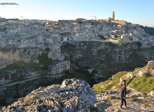 Panorama delle Gravine a Matera