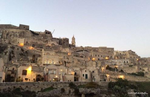 sassi di Matera al tramonto