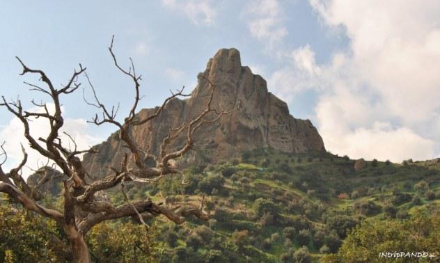 costone di roccia con il borgo fantasma di Pentedattilo