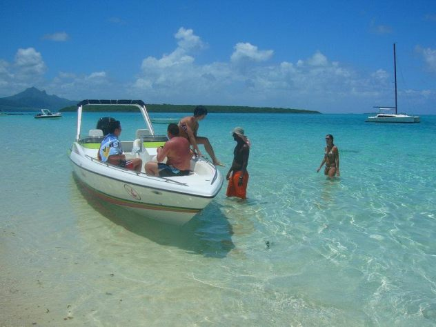 il limpido mare delle Mauritius