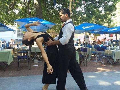 Ballerini di tango a Buenos Aires