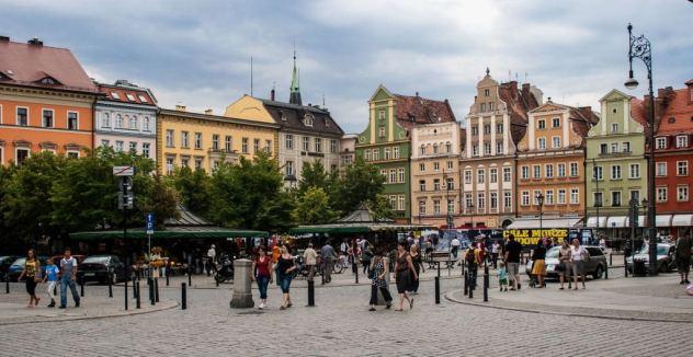 Il centro di Breslavia